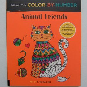 Animal Friends COLOR-BY-NUMBER (NWT)